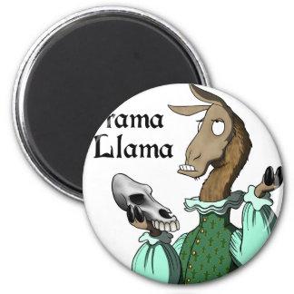 Drama Llama 2 Inch Round Magnet