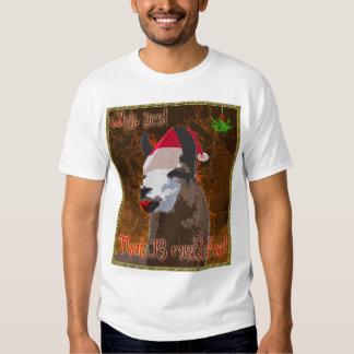 Drama Llama Mistletoe Shirt - BronzeGold