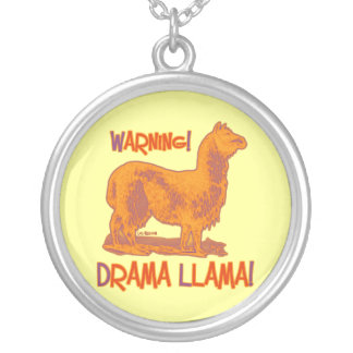 Drama Llama Silver Plated Necklace