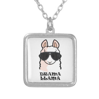 Drama Llama Silver Plated Necklace