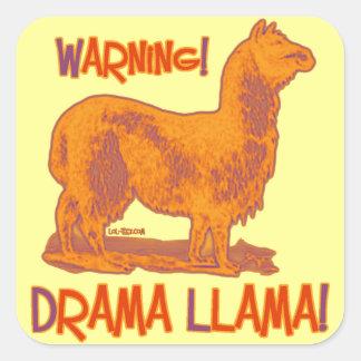 Drama Llama Square Stickers