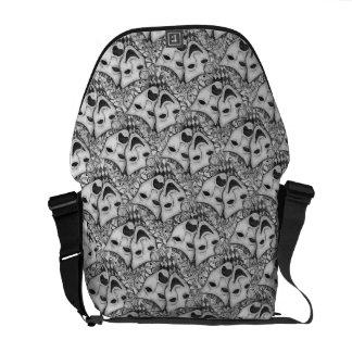 Drama Mask Bag, Comedy Tragedy Bag in Black/White Messenger Bags
