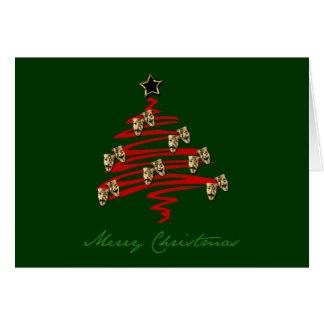 Drama Mask Christmas Tree Stationery Note Card