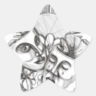 Drama Mask Hibiscus Sampaguita Flower Philippine S Star Sticker