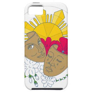 Drama Mask Philippine Sun Hibiscus Sampaguita Flow iPhone SE/5/5s Case