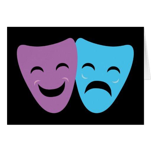 Drama Masks Card
