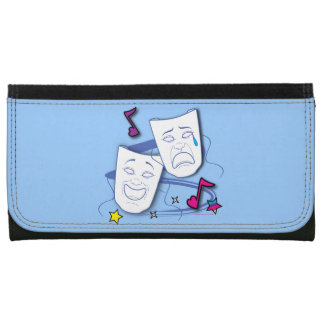 Drama Masks: Comedy & Tragedy Leather Wallet