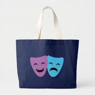 Drama Masks Large Tote Bag