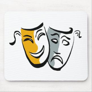 Drama masks merchandise mouse pad