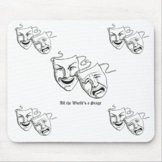 drama masks mouse mouse pad