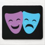 Drama Masks Mouse Pad