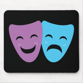 Drama Masks Mouse Pad