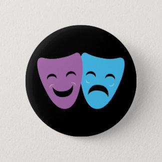 Drama Masks Pinback Button