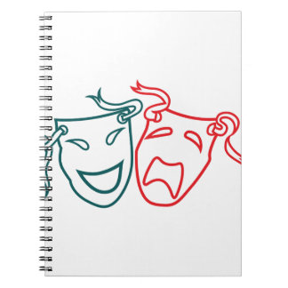 Drama Masks Spiral Notebook