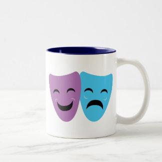 Drama Masks Two-Tone Coffee Mug