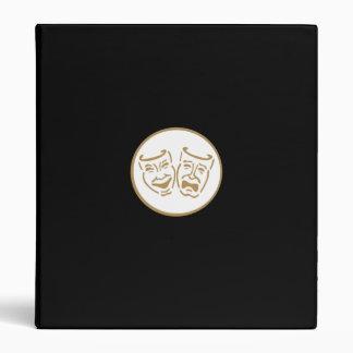 Drama Masks (White & Gold) 3 Ring Binder