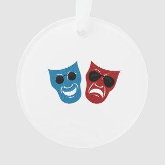 Drama Masks with Sunglasses Ornament