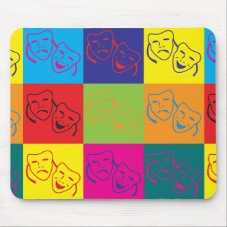 Drama Pop Art Mouse Pads