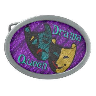 Drama Queen (Personalized Belt Buckle) Oval Belt Buckle