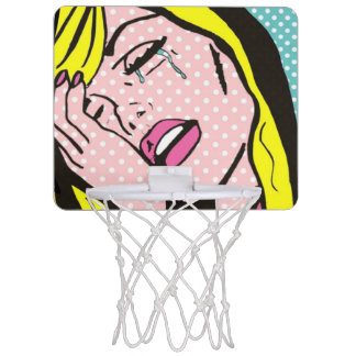 Drama Queen Pop Art Mini Basketball Hoop