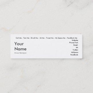 Drama Queen - Social Media Personal Card