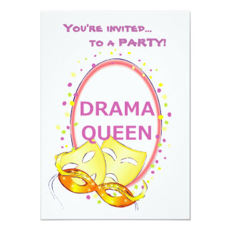 Drama Queen Theater Masks Card