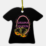 Drama Queen Theater Masks Christmas Ornaments