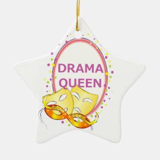 Drama Queen | Theater Masks Comedy Tragedy Ceramic Ornament