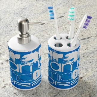 Drama; Royal Blue Stripes Soap Dispensers
