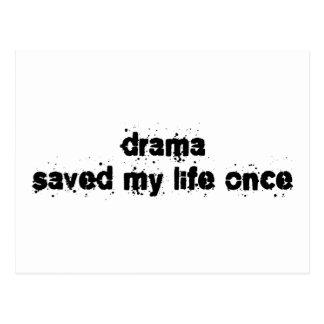 Drama Saved My Life Once Postcard