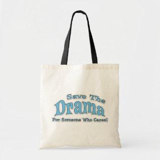 Drama Saying Budget Tote Bag