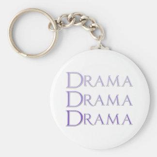 Drama Saying Basic Round Button Keychain