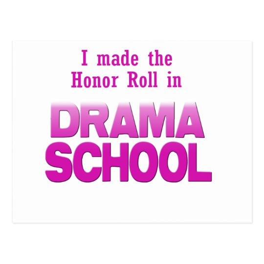 Drama School Honor Roll Postcard