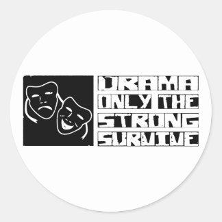 Drama Survive Classic Round Sticker