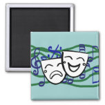 Drama: the Musical 2 Inch Square Magnet