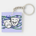 Drama: the Musical Double-Sided Square Acrylic Keychain