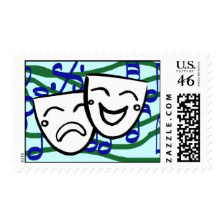 Drama: the Musical Mail Postage Stamps