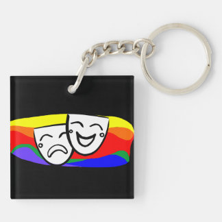 Drama: the Rainbow Swirls Keychain