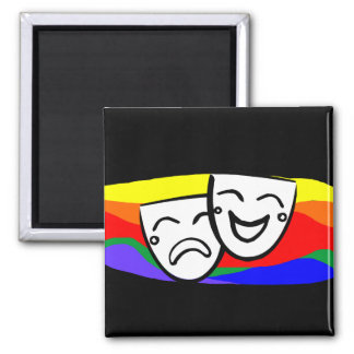 Drama: the Rainbow Swirls Magnet
