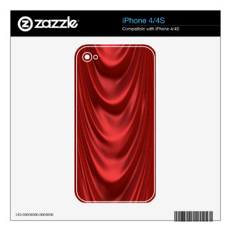 Drama Theatre Stage Curtains Acting Red Theater Decals For The iPhone 4S