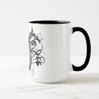 Dramatic 3 Weapons Fencing Crest White Mug