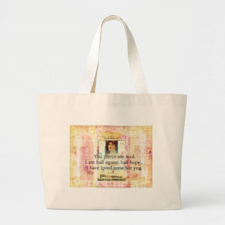 Dramatic and Romantic JANE AUSTEN  love quote Tote Bags