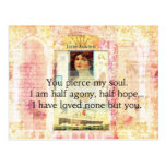 Dramatic and Romantic JANE AUSTEN  love quote Postcards