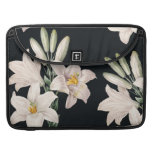 Dramatic Black and White Lilies MacBook Pro Sleeves