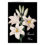 Dramatic Black and White Lilies Thank You Card
