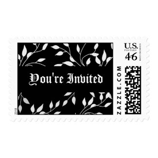 Dramatic Black and White Postage Stamps
