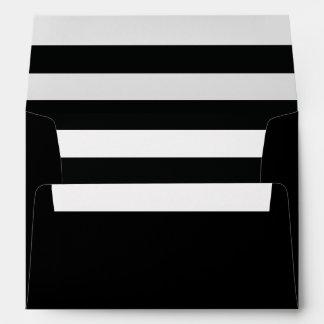Dramatic Black Stripe Pattern Envelope