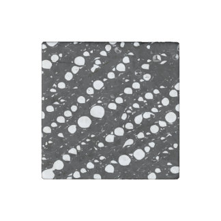 Dramatic Black&White Abstract Stone Magnet