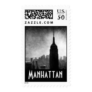 Dramatic Black & White Empire State Building Postage