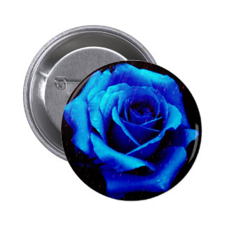 Dramatic Blue Rose Button